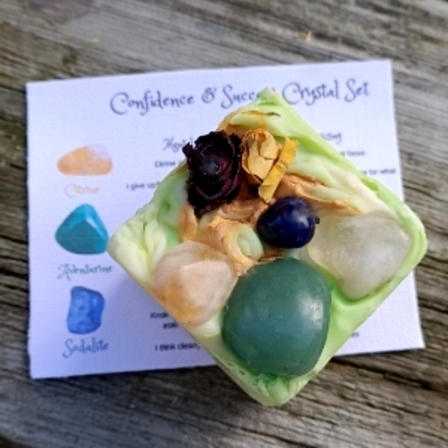 Confidence & Success Crystal Set Artisan soap
